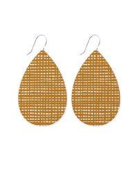 Crosshatch Big Tear Drop Earrings