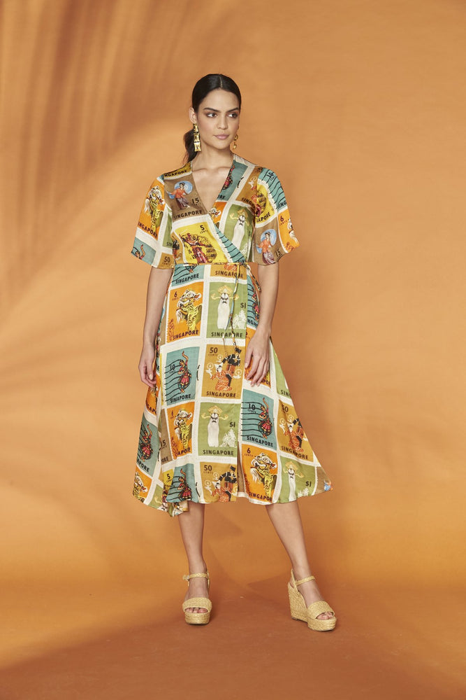 Wrap Dress Heritage Stamps