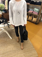 Side Split Tunic White