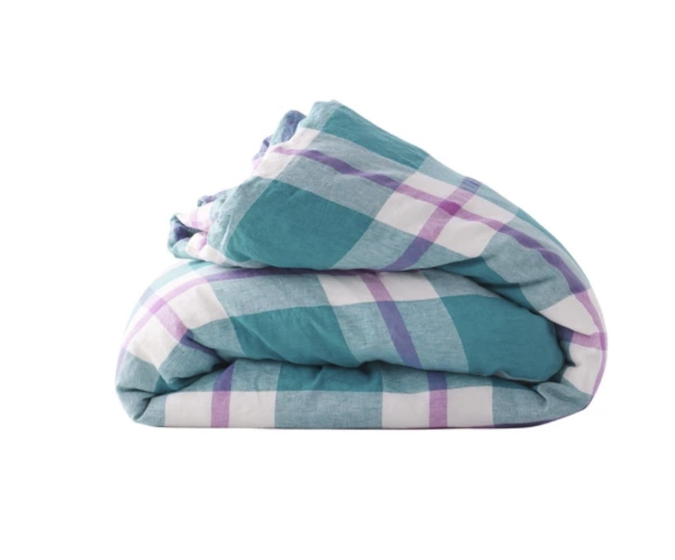 Jelly Bean Check Duvet Cover