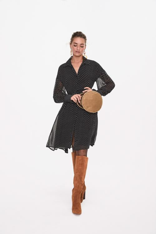 Georgette Button Up Dress