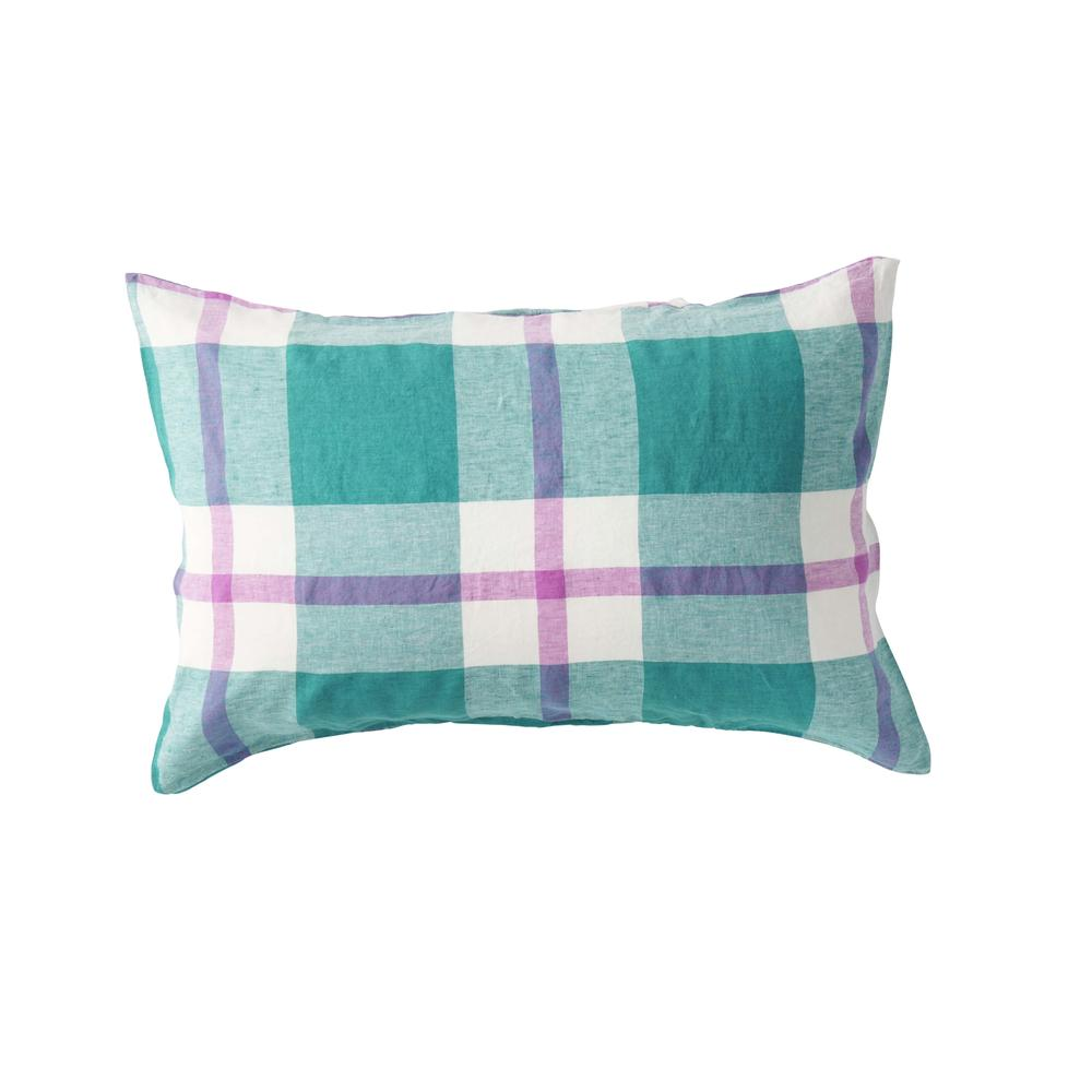 Jelly Bean Check Pillowcase Set