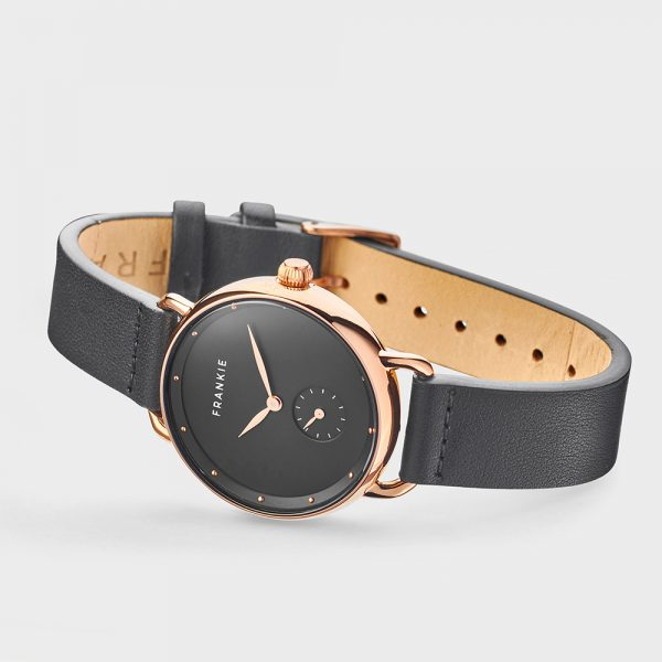 Polished gold slim rim/black band
