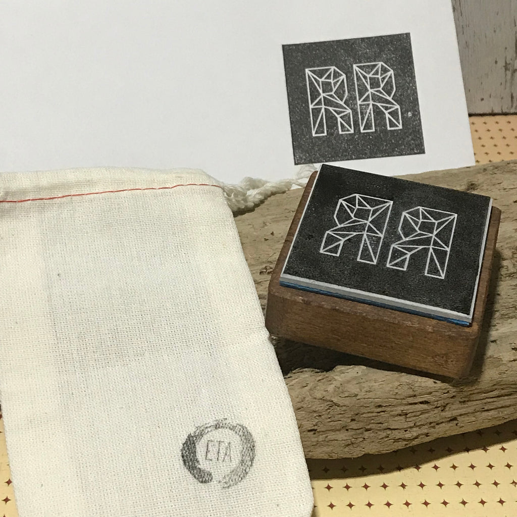 Mini Logo Stamp for stamping muslin bags, gift tags and jewelry boxes
