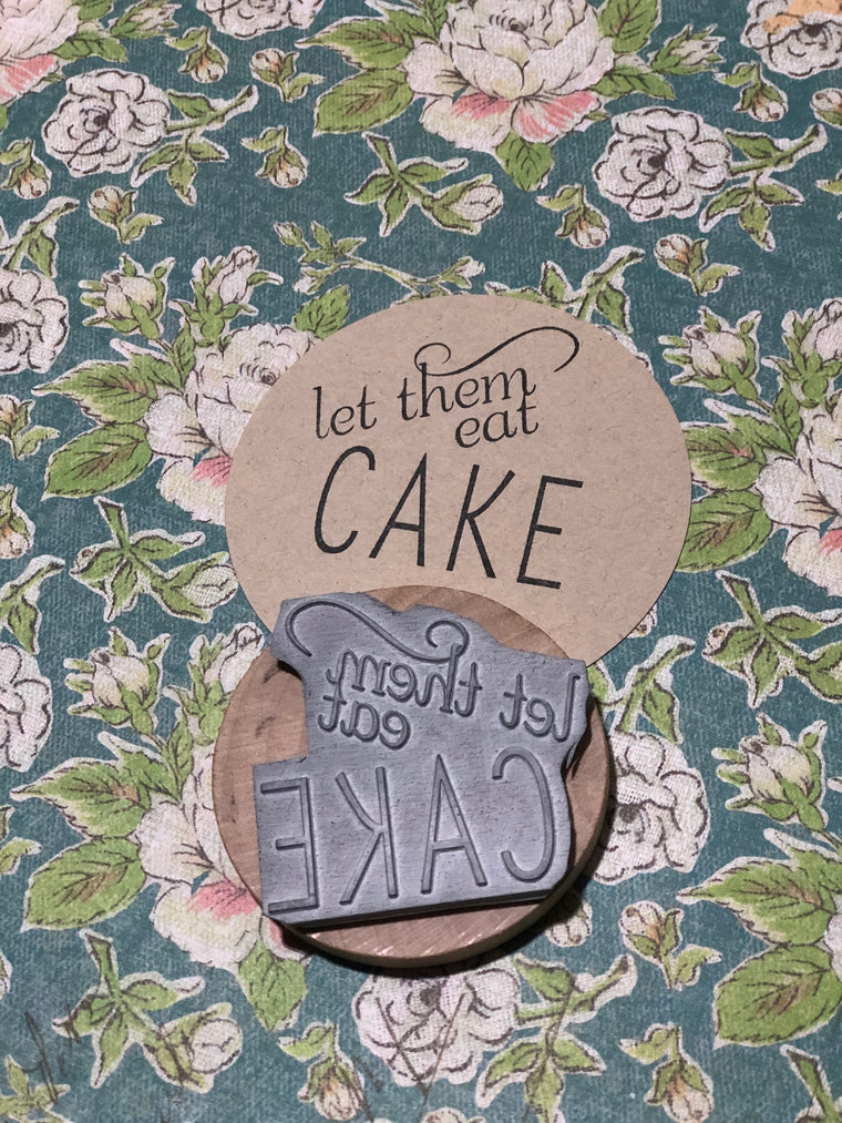 Let them eat cake stamp