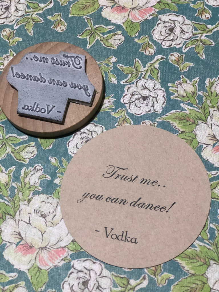 Trust me..you can dance! Wedding stamp
