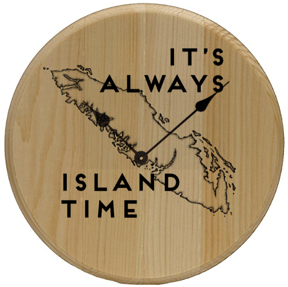 Island Time Home Decor Wall Art Clock