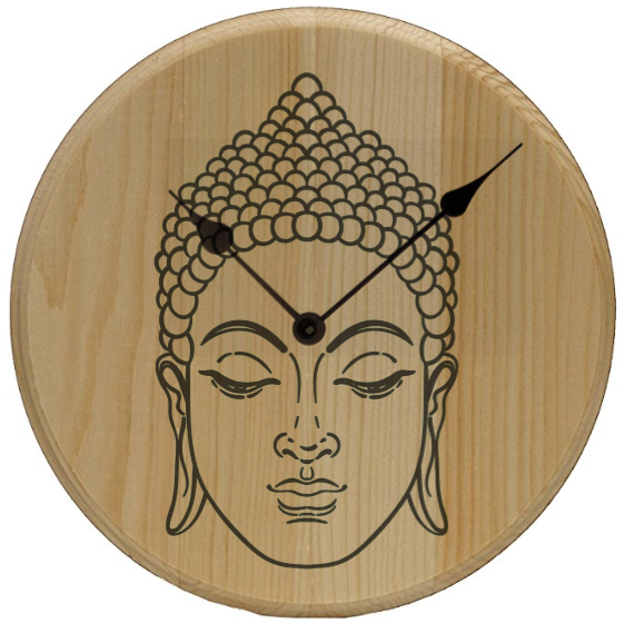 Buddha Head Conscious Home Decor Wall Art Clock