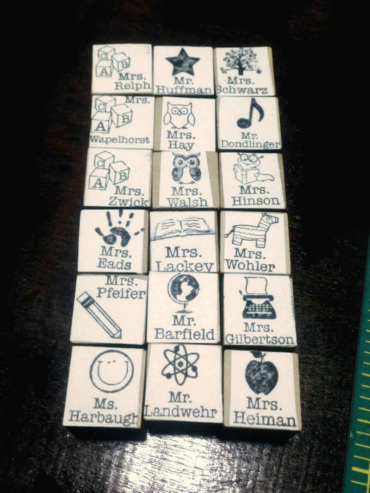 Teacher Stamp for stamping on notebooks, journals, hall passes A perfect gift for teachers at graduation or back to school - new size!