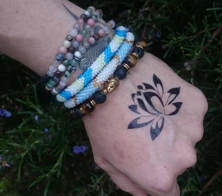 Lotus Temporary Tattoo - Back Tattoo - Wrist Temporary Tattoo - Skin Tattoo - Lotus Flower Tattoo