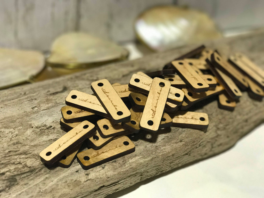 "Rustic Wood Tags, Branding Tags, Logo Tags, 1.5"" x 0.5"" (38mmx12mm) FREE SHIPPING Limited Time Offer"