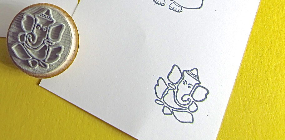 Ganesh Stamp Various Sizes to Choose from Ganesha - NEW PACKAGING