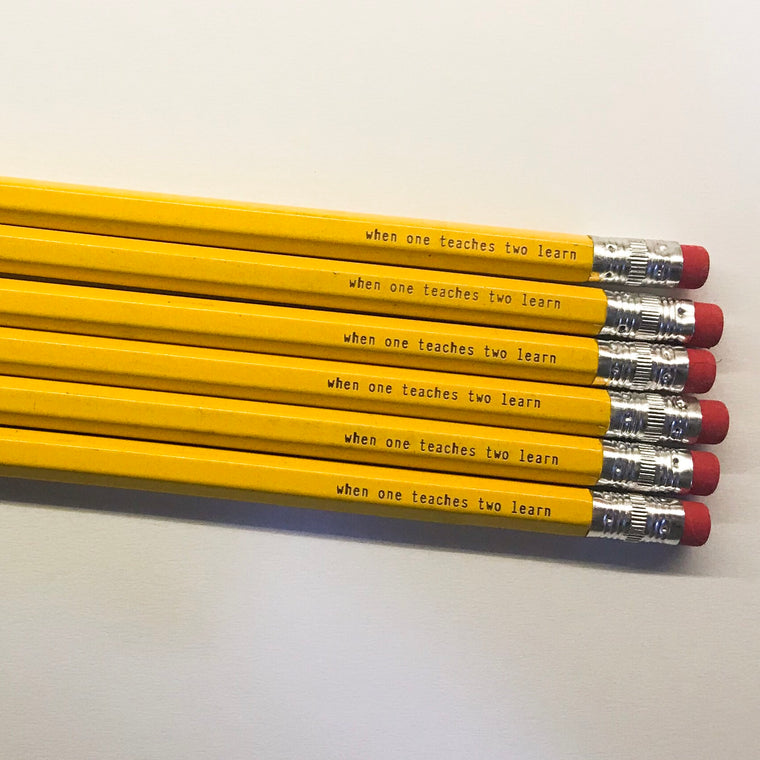 Teacher Gift - engraved pencils