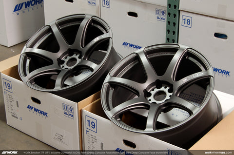 WORK Emotion T7R 19x9.5/10.5 5x114.3 Gun Metal Finish Nissan 370Z Fitments