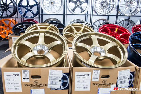 ADVAN Racing TCIII 18x9.0 +25mm 5x114.3 Gold Finish