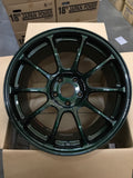 RAYS VOLK Racing ZE40 18x9.5 +45mm 5x114.3 Racing Green Finish