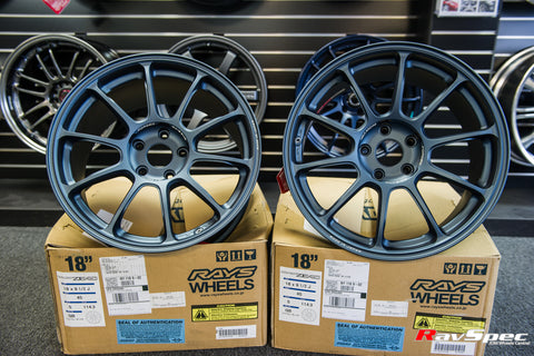 RAYS VOLK Racing ZE40 18x9.5 +40mm 5x120 Matte Blue Gun Metal