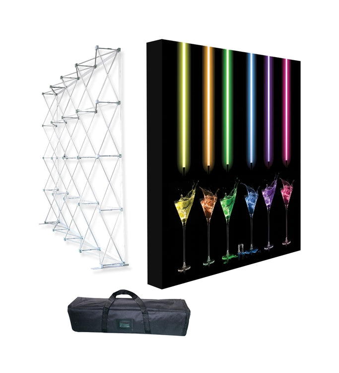 Deluxe 10 foot portable pop-up display