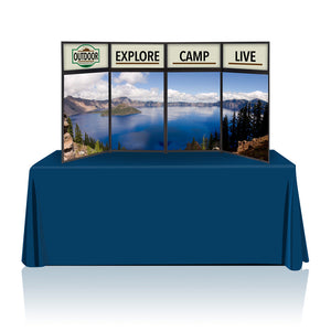 Tabletop Panel Display 8 ft. (Blue/Light Blue) Graphic Package (Hardware & Graphic)