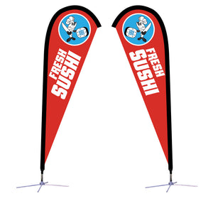 Sunbird Flag - Small 7.5' X-Base Double-Sided Graphic Package