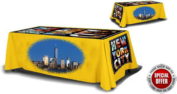 4' TABLE THROW 4 SIDED FULL DYE SUBLIMATED