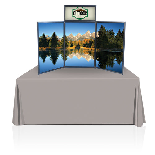 Tabletop Panel Display 6 ft. (Black/Gray) Graphic Package (Hardware & Graphic)
