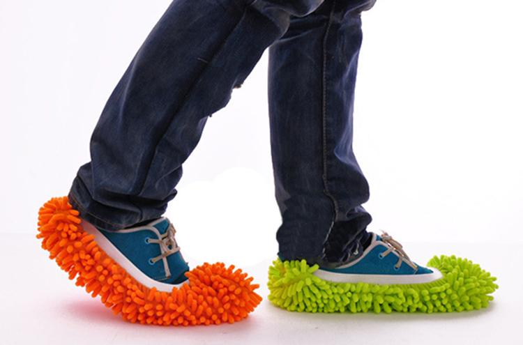 Lazy foot mop duster