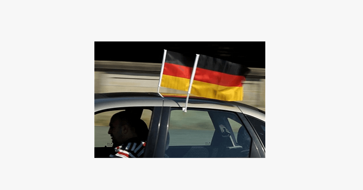 German Flag Car Window Pole Decoration