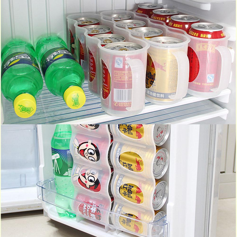 Cans Storage Box Refrigerator Organizer Sauce Bottle Container Four Case Organization