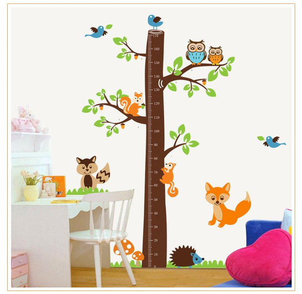 Wall Stickers Children's Room Height Squirrel