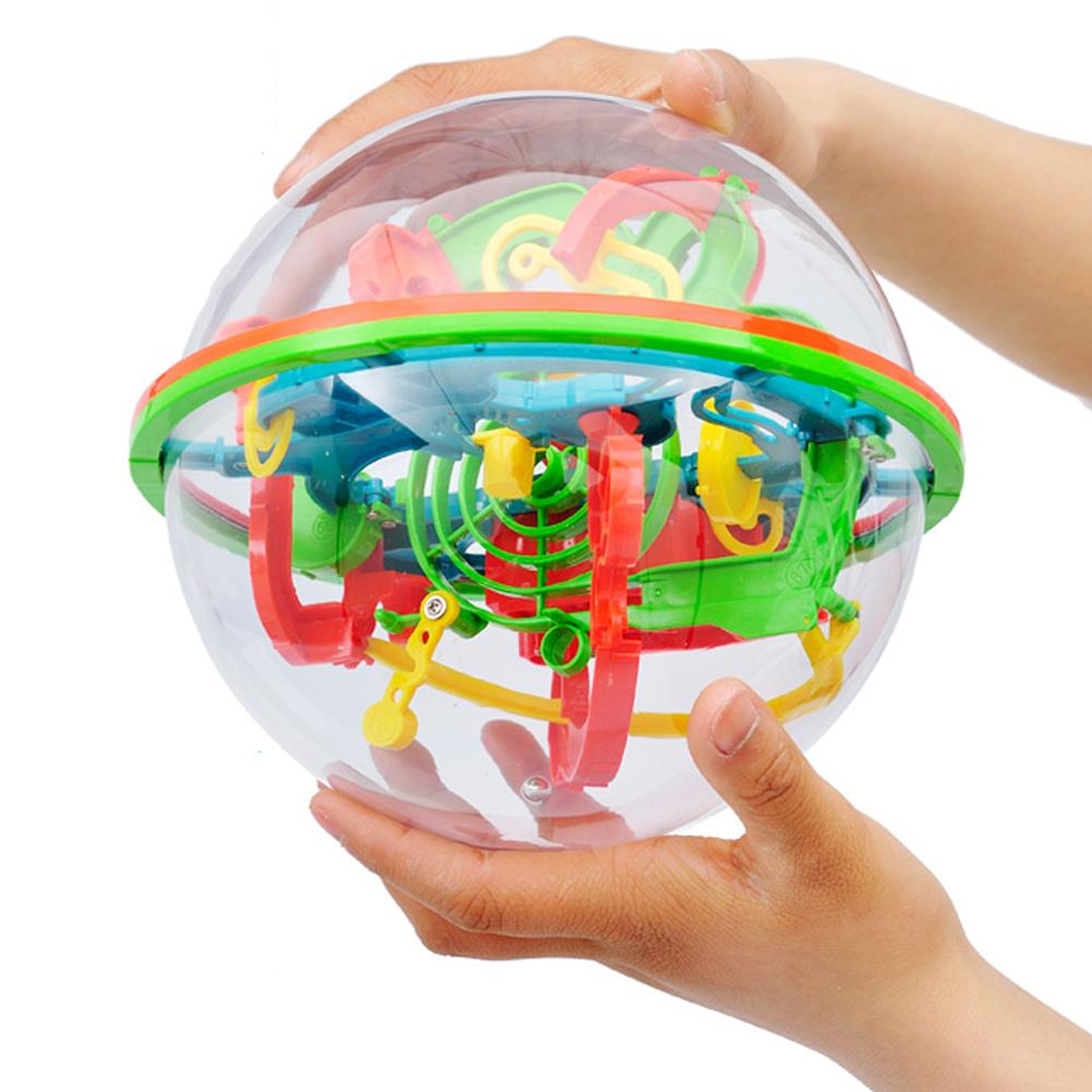 3D Magic Intellect Maze Kids Balance Logic Ability Puzzle Training Ball Toys