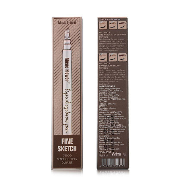 2x Waterproof Fork Tip Eyebrow Tattoo Pen Special Offer