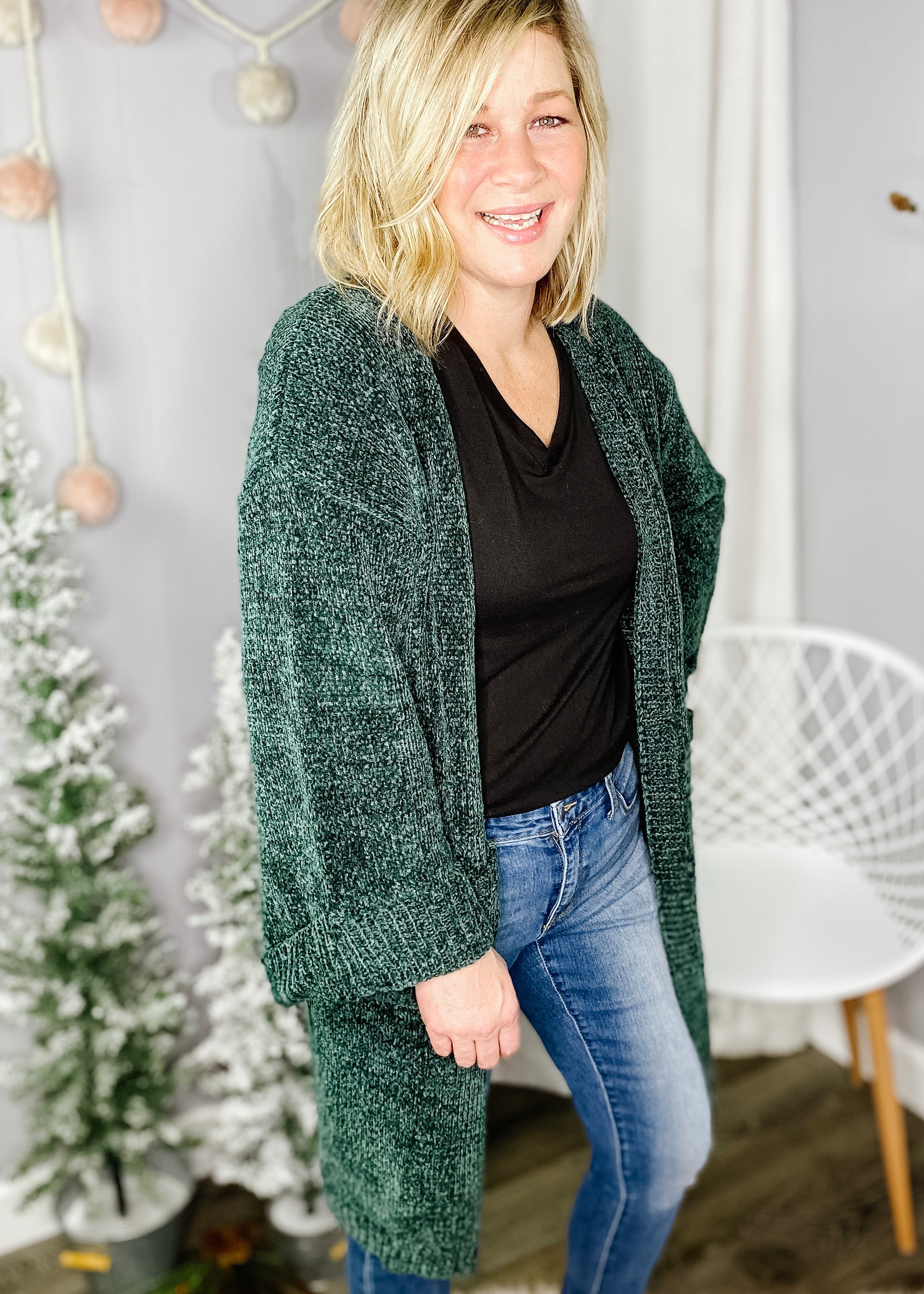 Emerald Green Cardigan