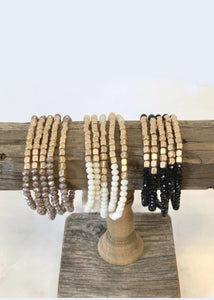 Five Strand Stone and Gold Bracelet