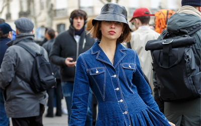 7 denim looks spotted at Paris Fashion Week we love