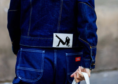 Denim street style à la Fashion Week de Paris