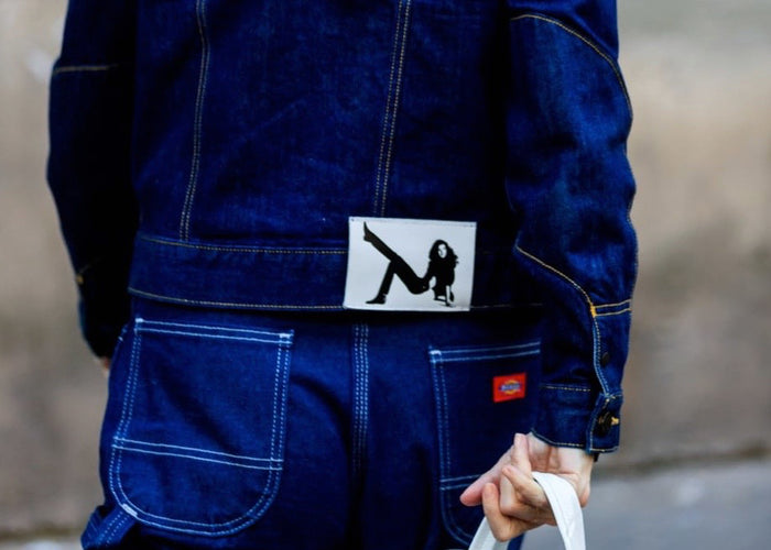 Denim street style tijdens Paris Fashion Week
