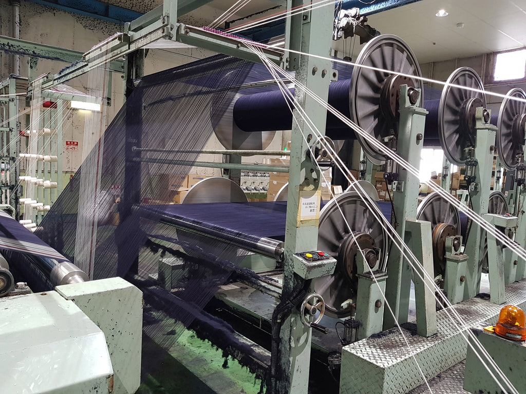 japanese indigo blue denim weaving process FAÇON JACMIN