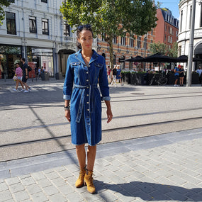 Rocking the ROXAN dress in Antwerp