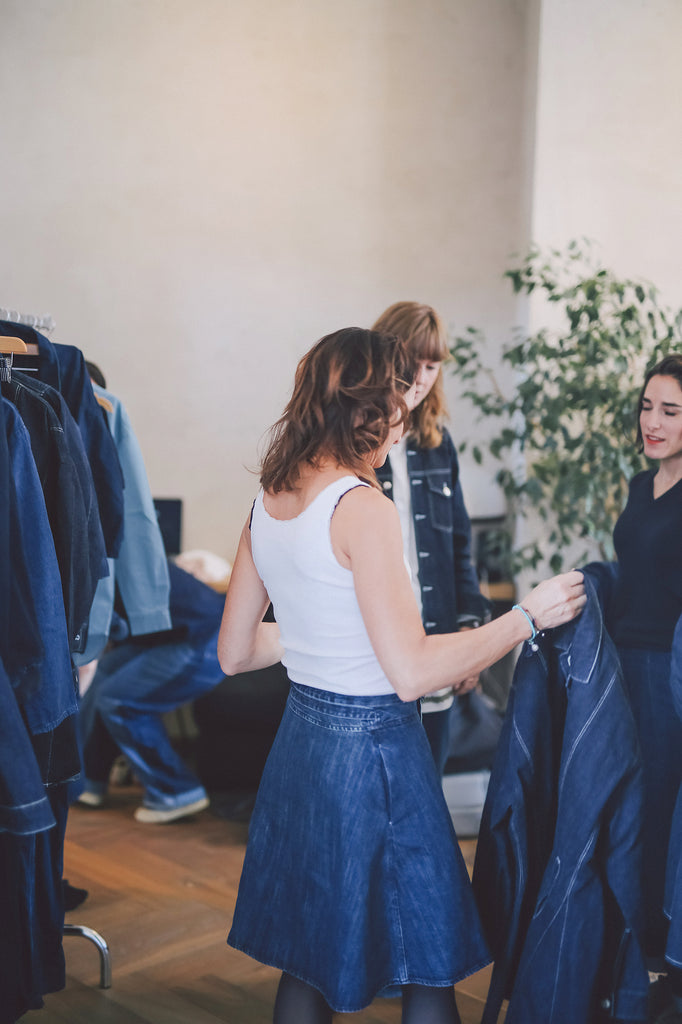 private styling event denim clothing for women belgian twin designers FAÇON JACMIN