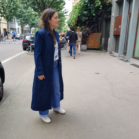 Street style at a pop-up in Antwerp