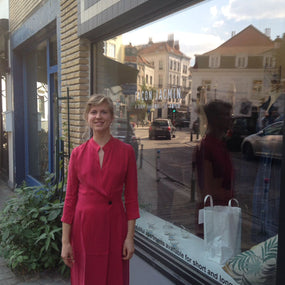 Lady in red at our Dansaert pop-up