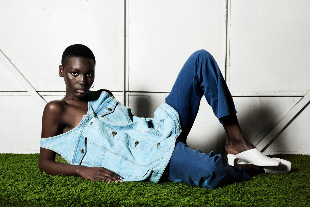 new spring summer collection facon jacmin sustainable designer denim brand