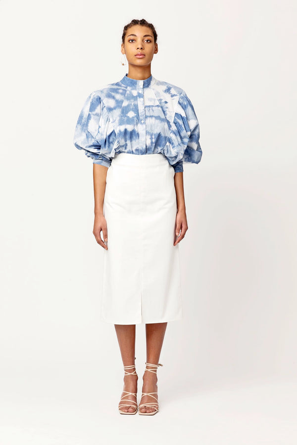 Dali classy shirt oversized sleeves fitted top