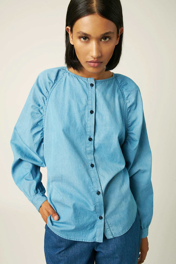 Dalia light blue blouse
