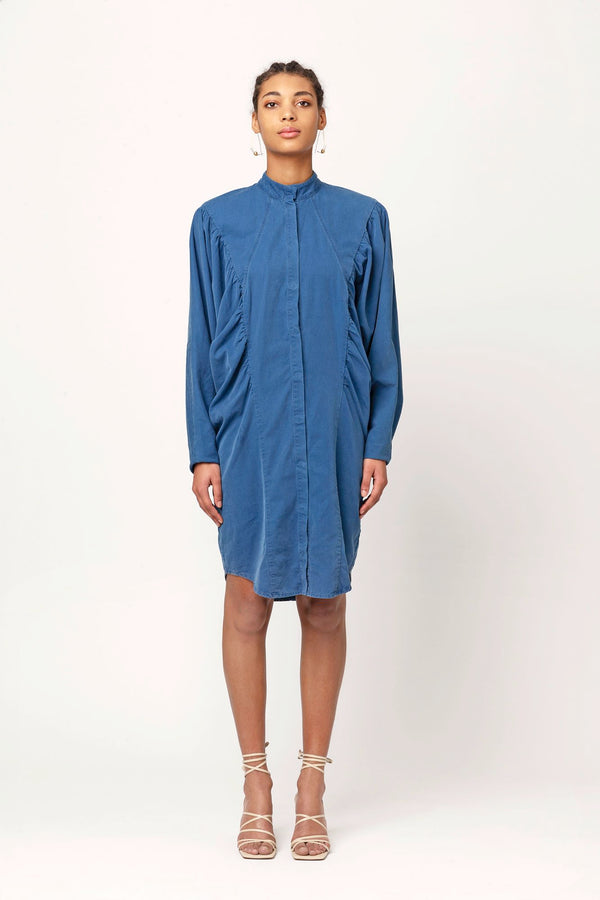 Dalida blue batwing denim dress