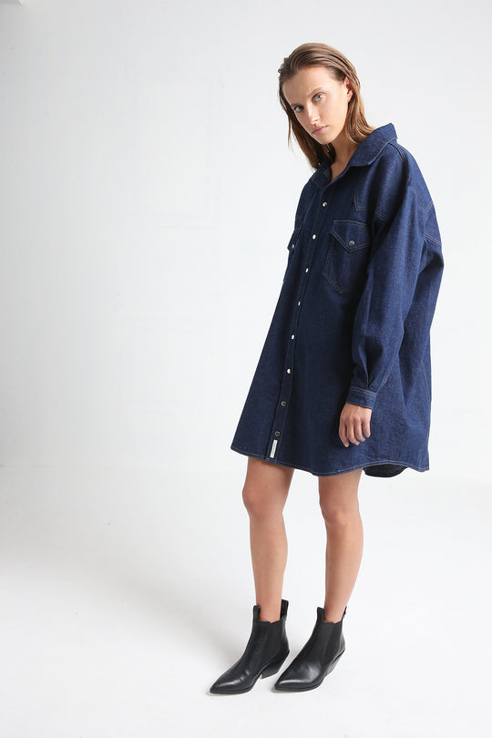 GLORIA jeans shirt dress