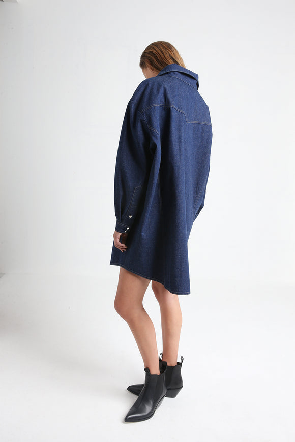GLORIA denim shirt dress