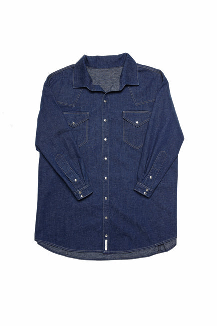 GLORIA denim shirt dress packshot