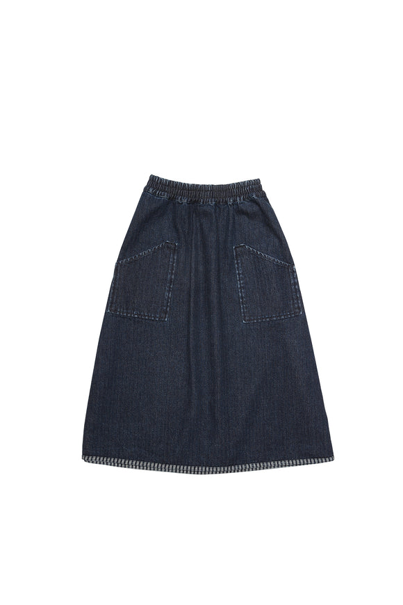 JOY indigo blue denim skirt